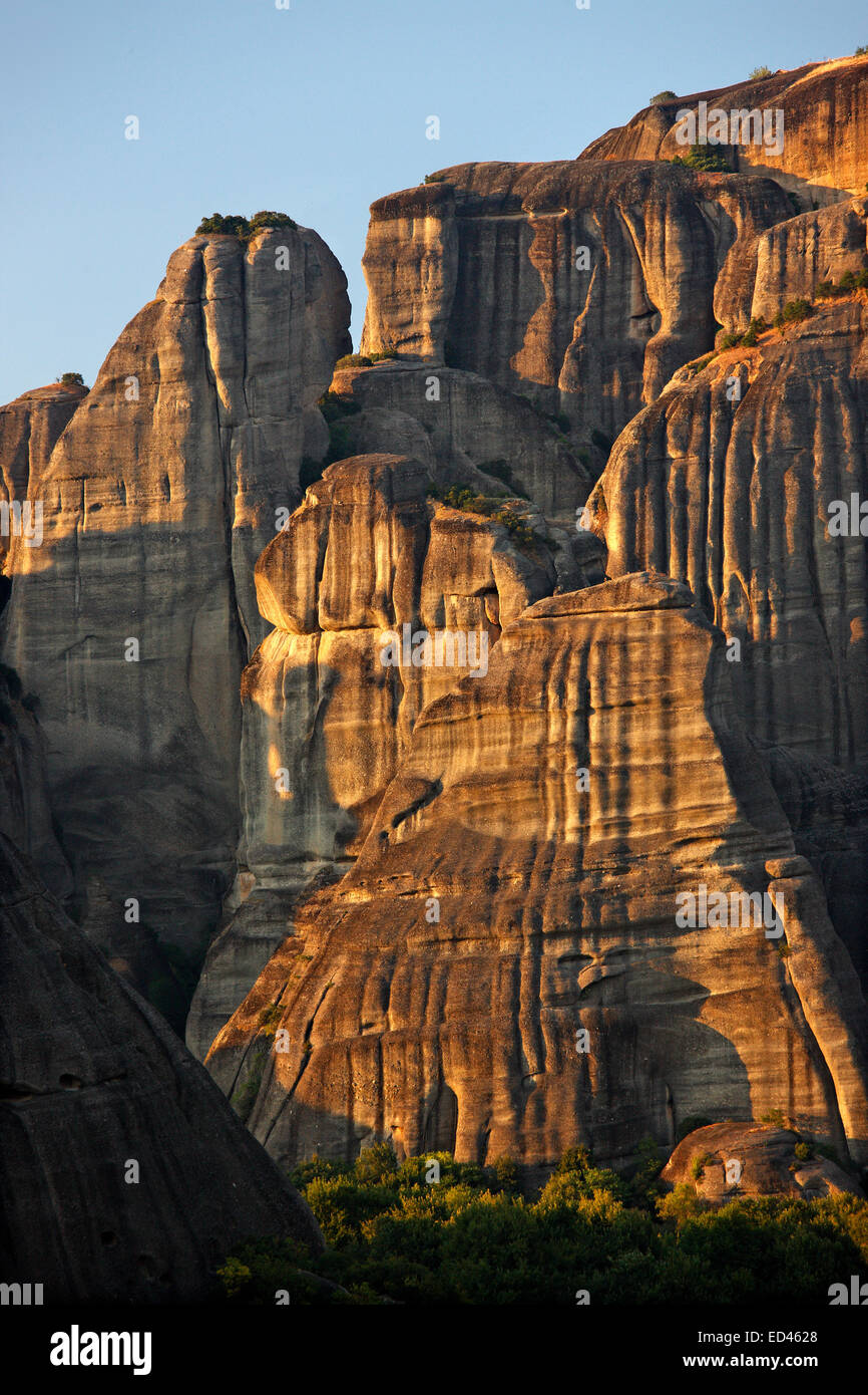 The impressive rocks of Meteora, Trikala, Thessaly, Greece. - Stock Image