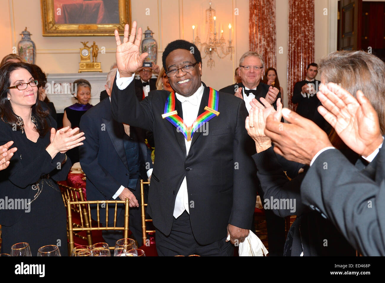 Singer Al Green Smiles After Receiving His Kennedy Center Honors Medallion At A Dinner Hosted By