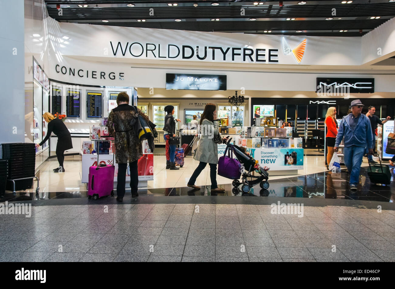 267609772eb8 World Duty Free shop at London Stansted Airport Essex England United  Kingdom UK - Stock Image