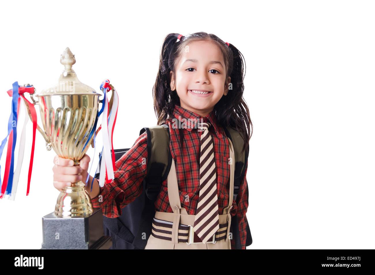 Young Indian School Girl Braids Stock Photos & Young