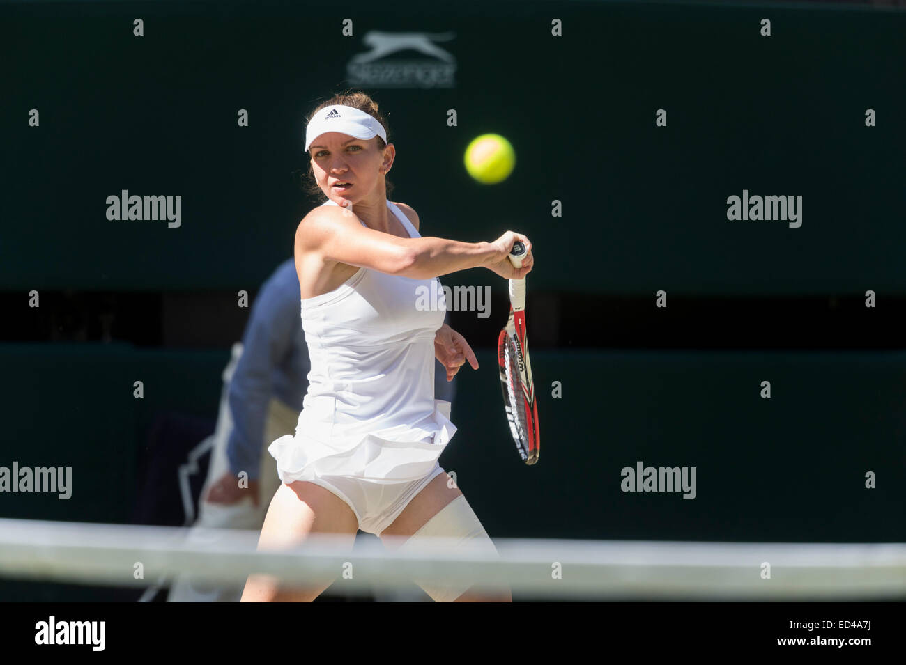 03.07.2014. The Wimbledon Tennis Championships 2014 held at The All England Lawn Tennis and Croquet Club, London, - Stock Image