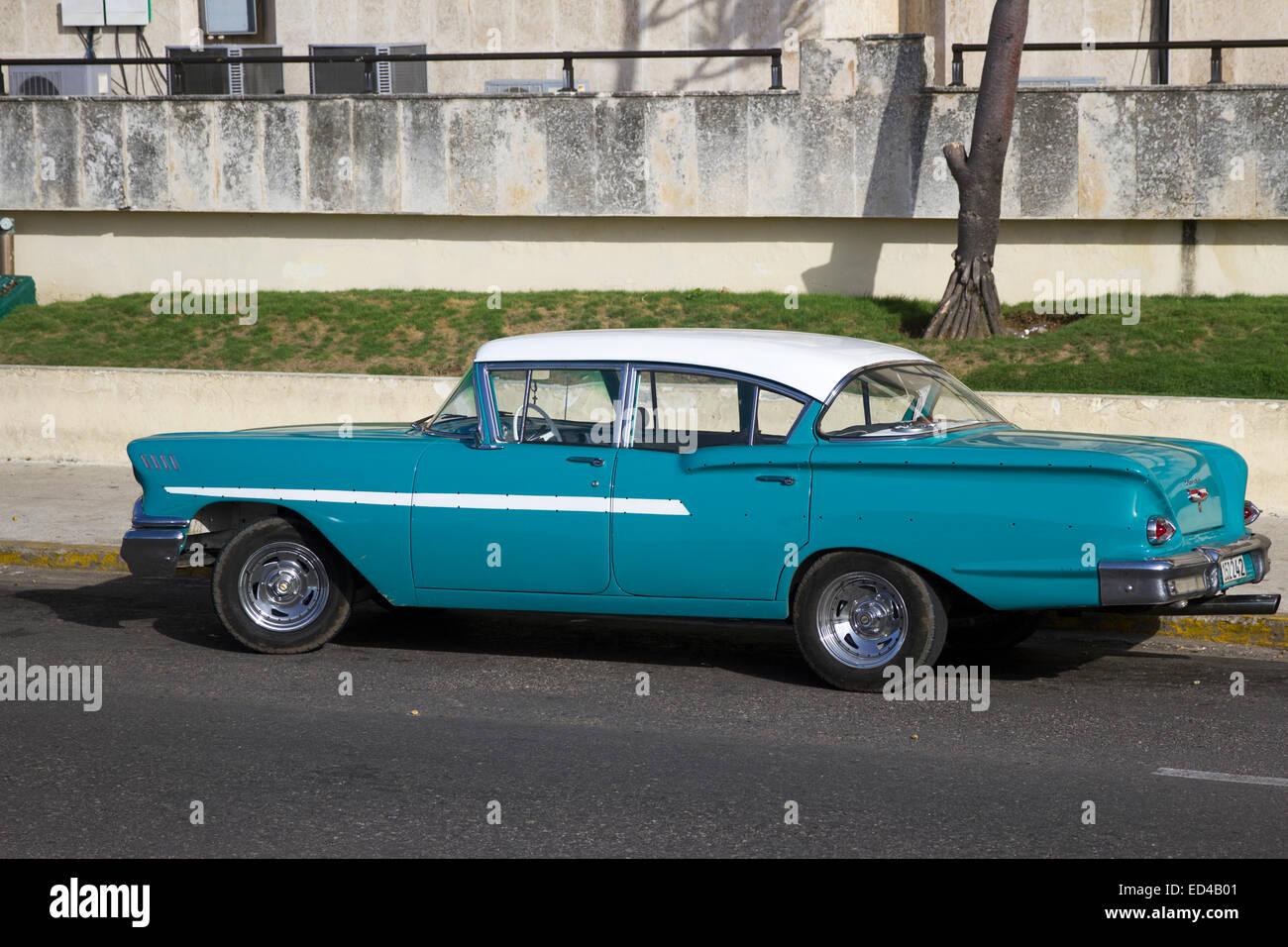 Classic Chevy Cars in Havana Cuba Stock Photo: 76928433 - Alamy