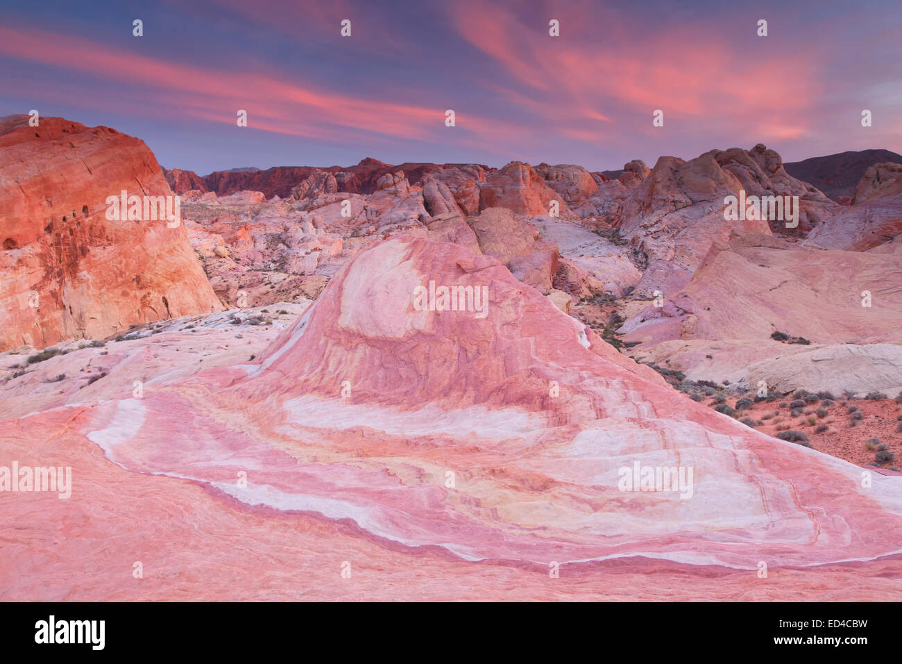 Colorful sandstone, Valley of Fire State Park, near Las Vegas, Nevada. - Stock Image