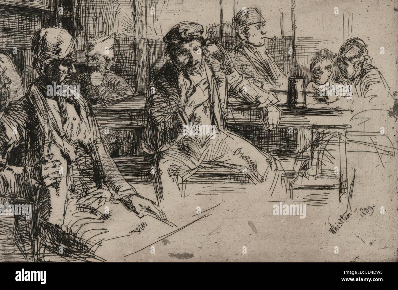 Longshoremen - James McNeill Whistler, 1859 - Stock Image