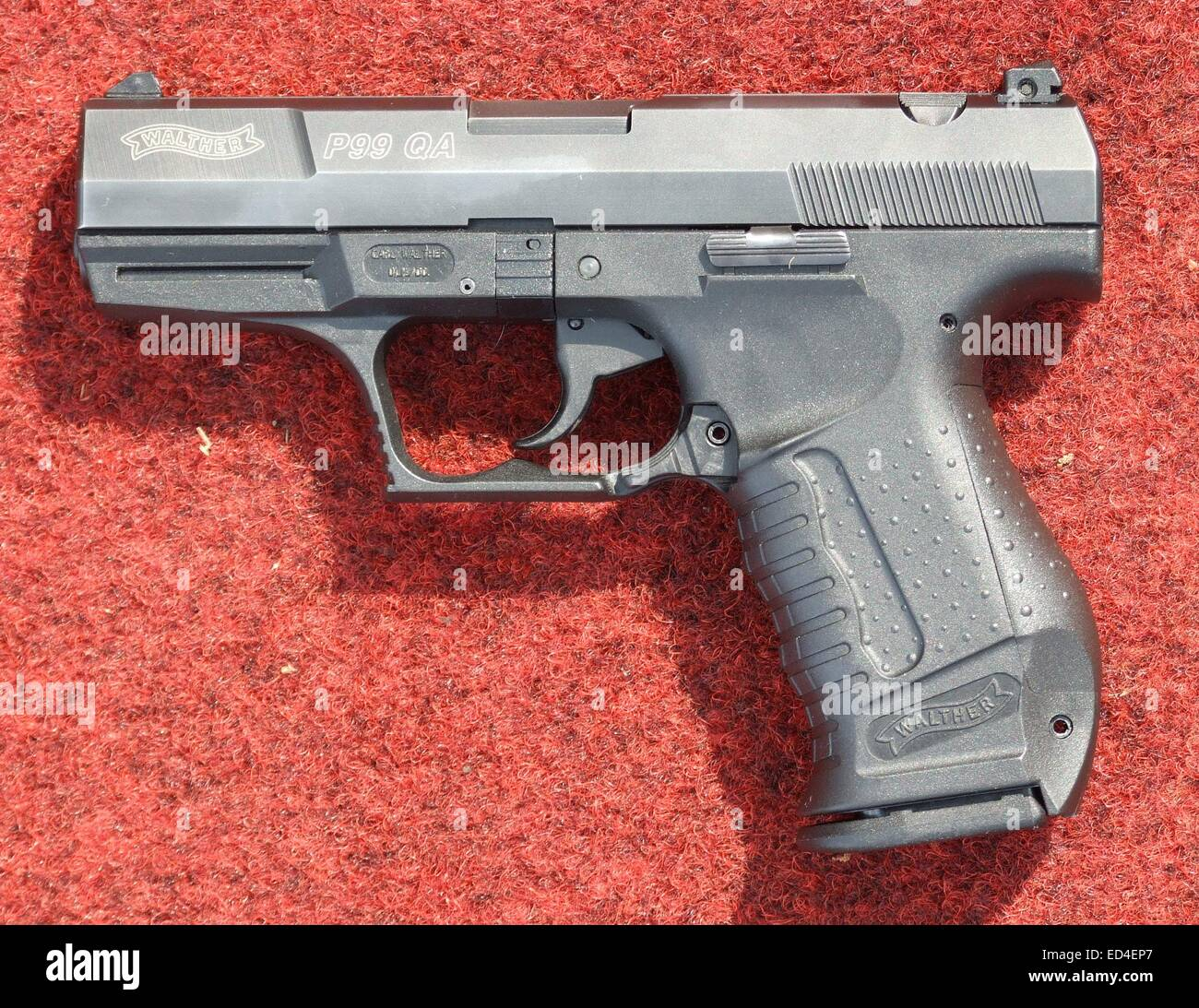 Walther P99 (QA trigger) caliber 9 mm Luger Stock Photo