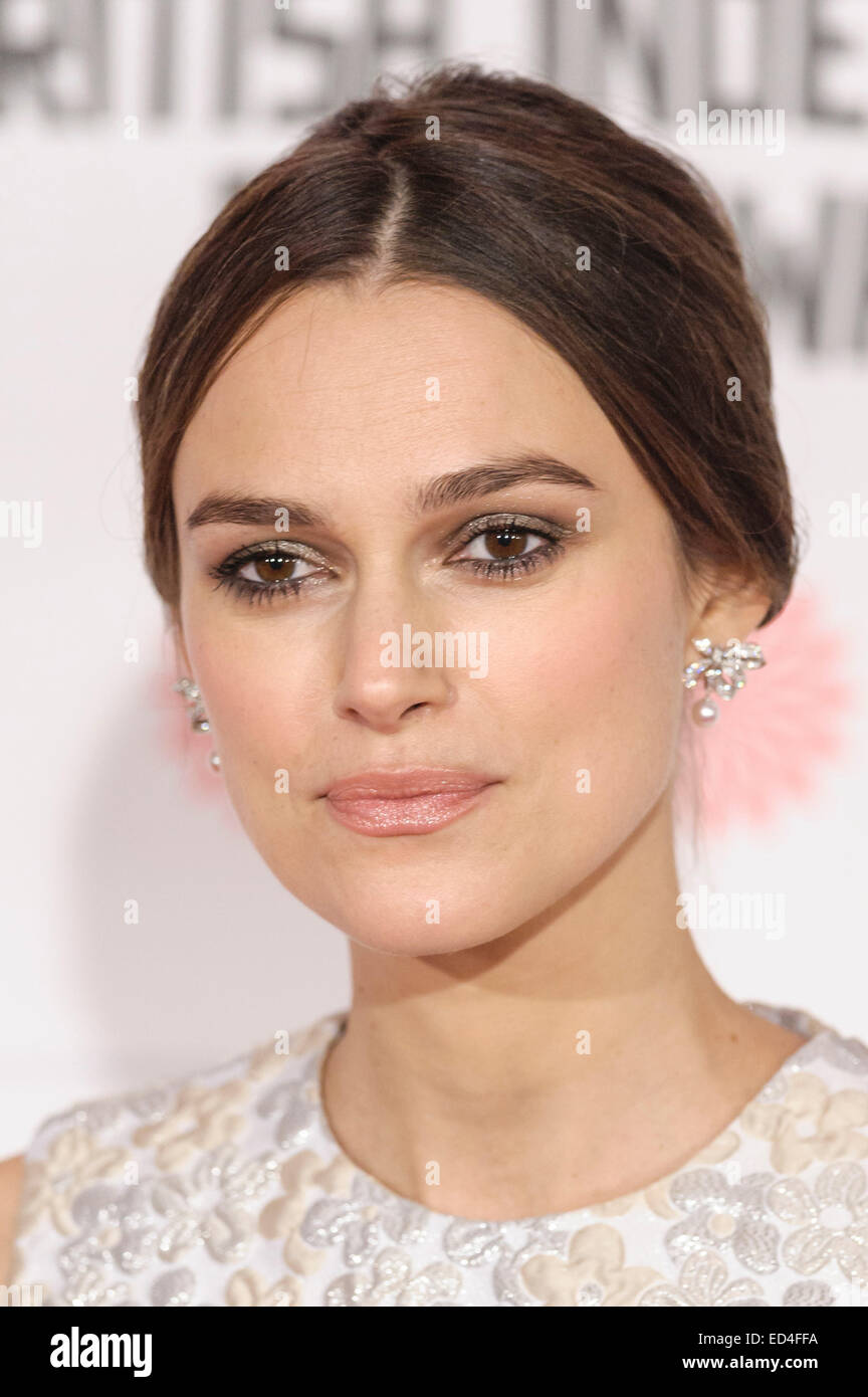 Keira Knightley attends the The 17th Moet British Independent Film Awards on 07/12/2014 at Old Billingsgate Market, - Stock Image