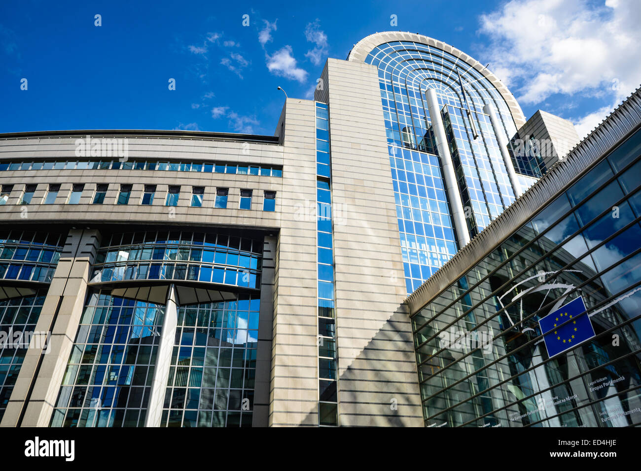 European Parliament in Brussels, Belgium, directly elected parliamentary institution of the European Union (EU). - Stock Image