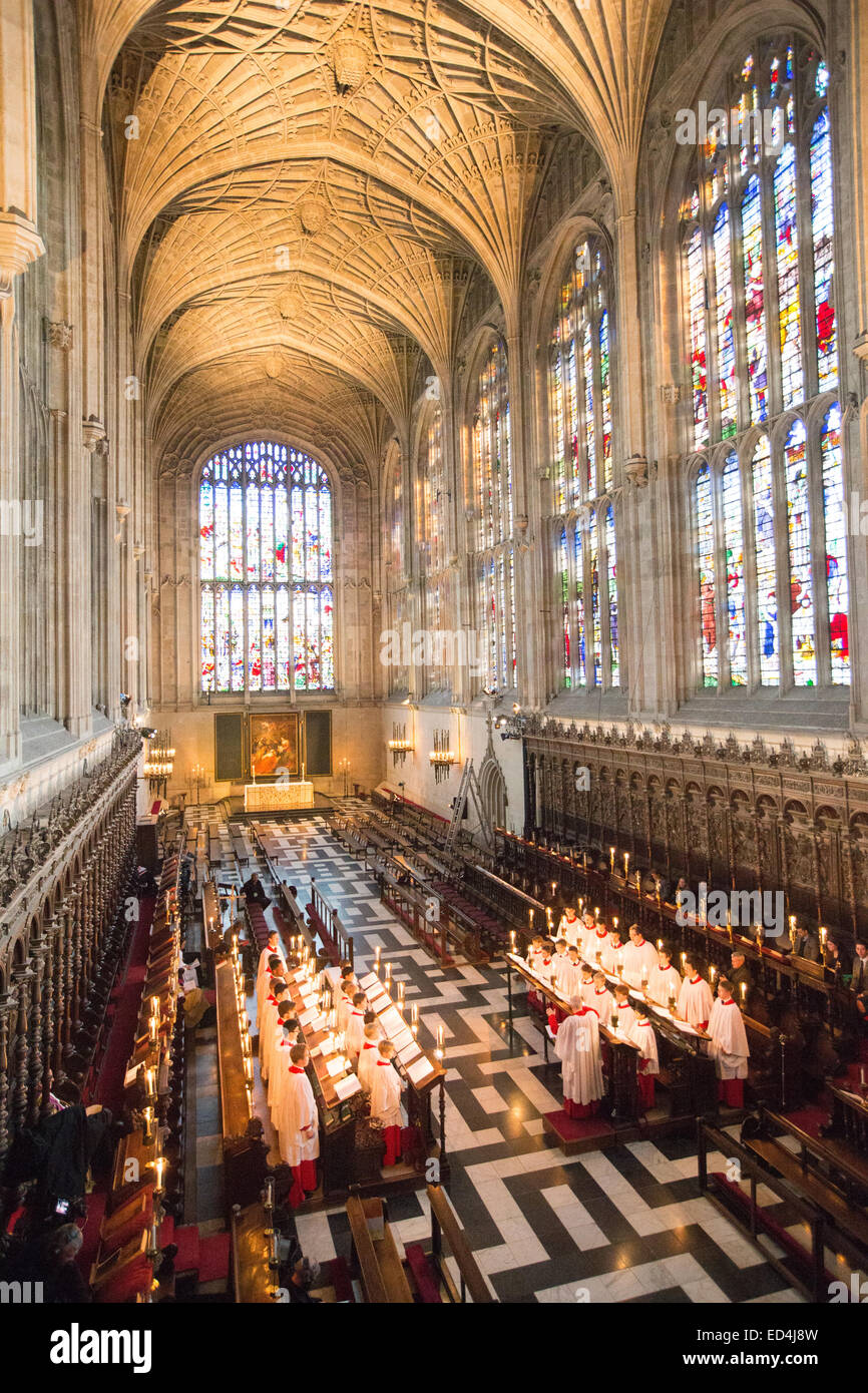 Kings College Cambridge Choir Having Their Final Rehearsal Before The Recording Of A Festival Nine