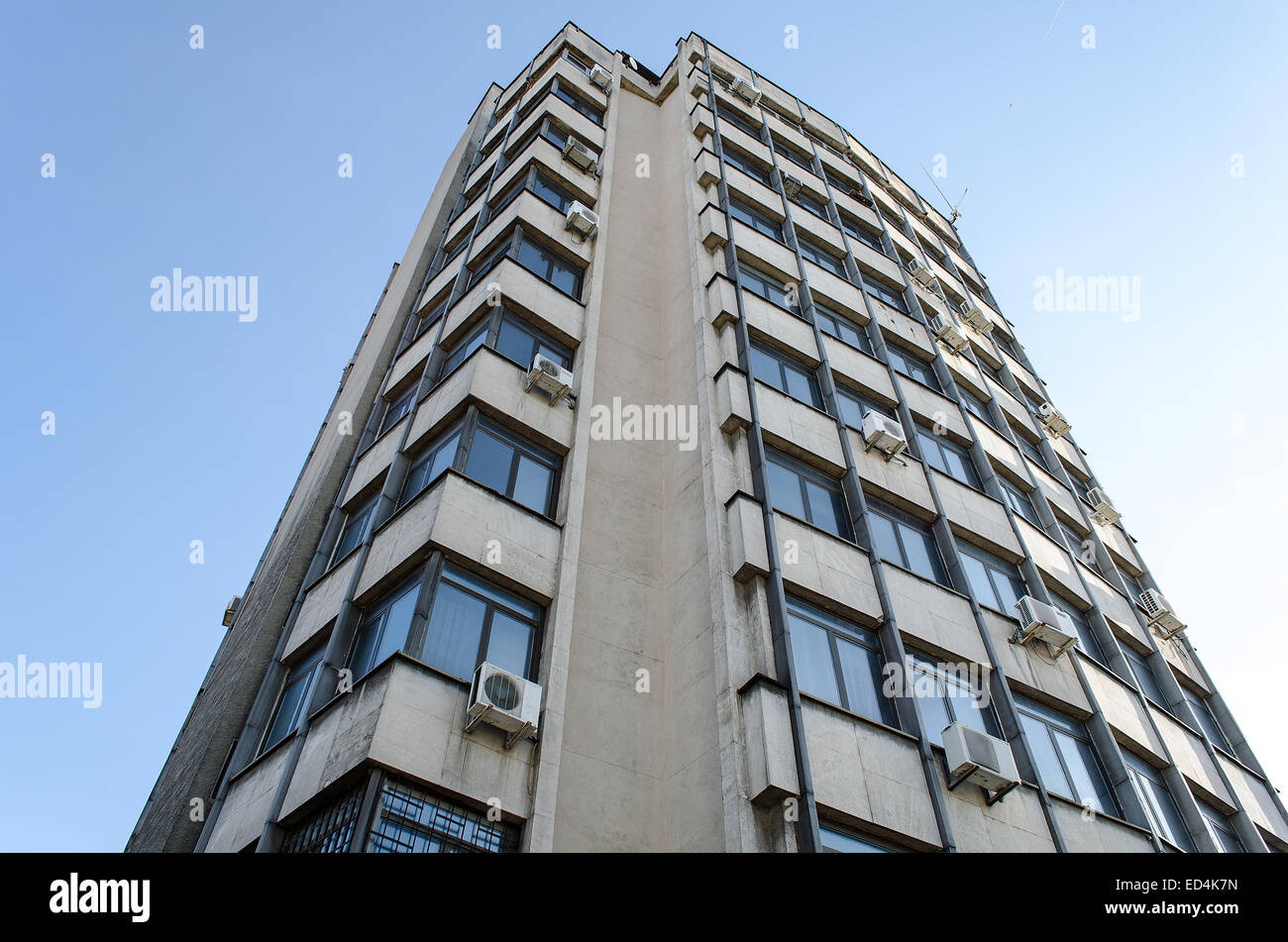 Large and modern office building old architecture Stock Photo