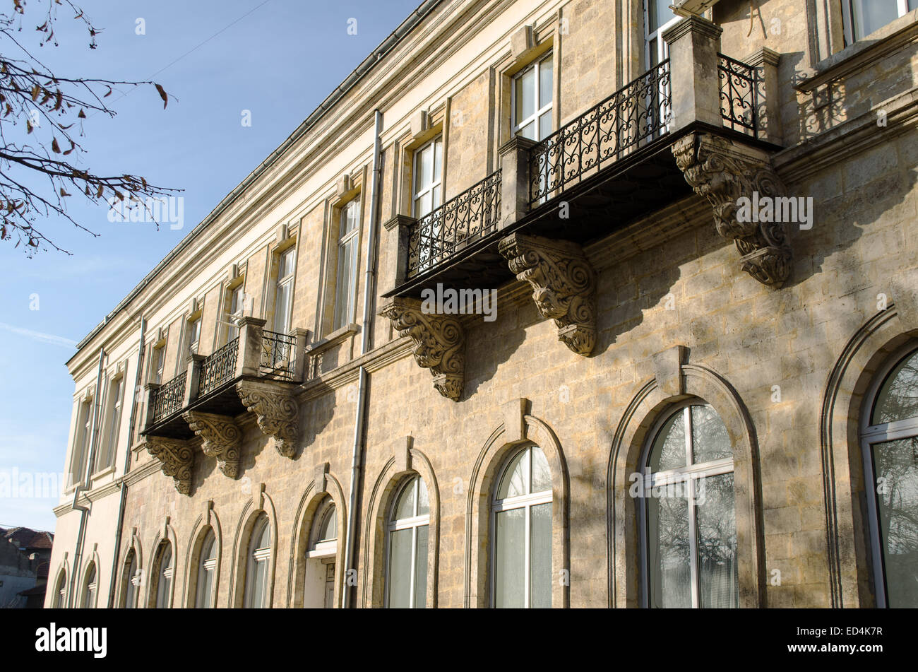Building neoclassical style late 19th century, Bulgaria Ruse Stock Photo