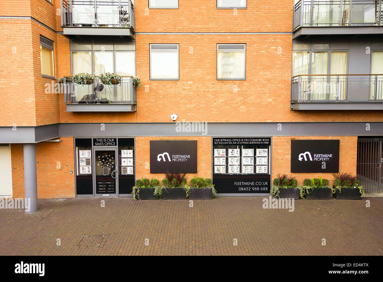 Birmingham City Centre estate agent and property letting office - Stock Image