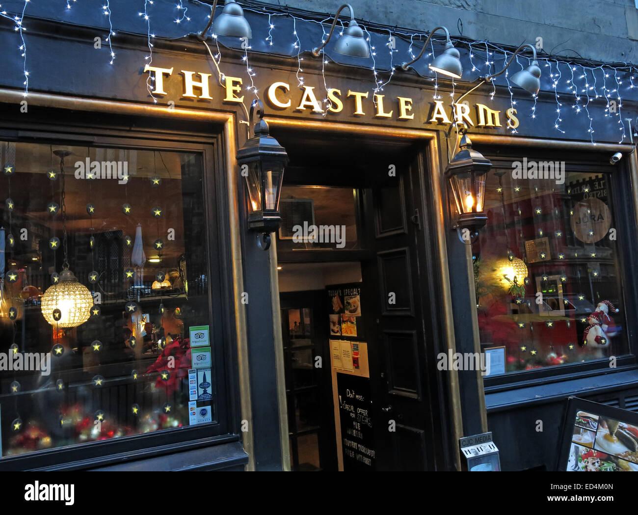 The Castle Arms Pub, Edinburgh, Scotland, UK - Stock Image