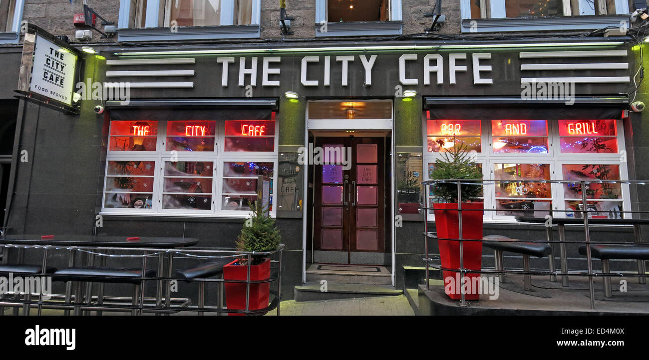The City Cafe Diner,Blair Street,Edinburgh, Scotland,UK - Stock Image