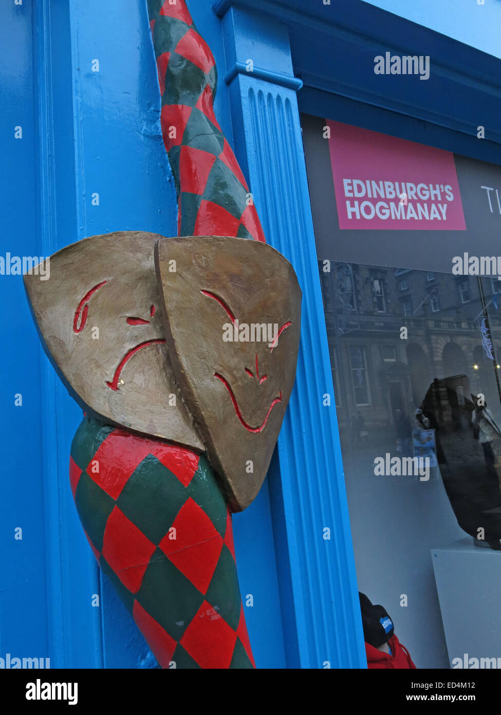 EdFringe office for Hogmanay and Fringe Events, Royal Mile, Edinburgh, Scotland, UK - Stock Image