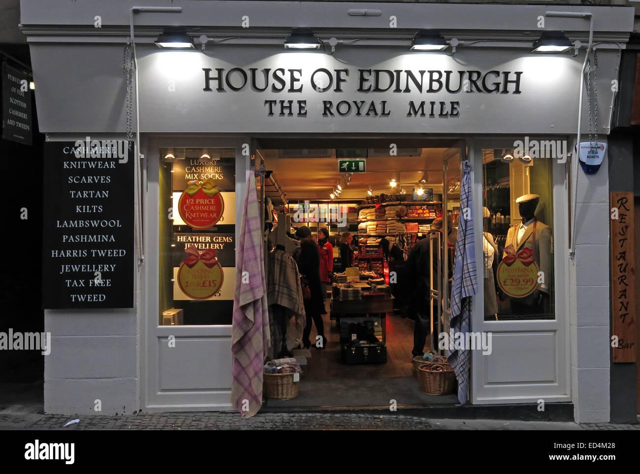 House of Edinburgh tourist shop, The Royal Mile, Scotland, UK Stock Photo