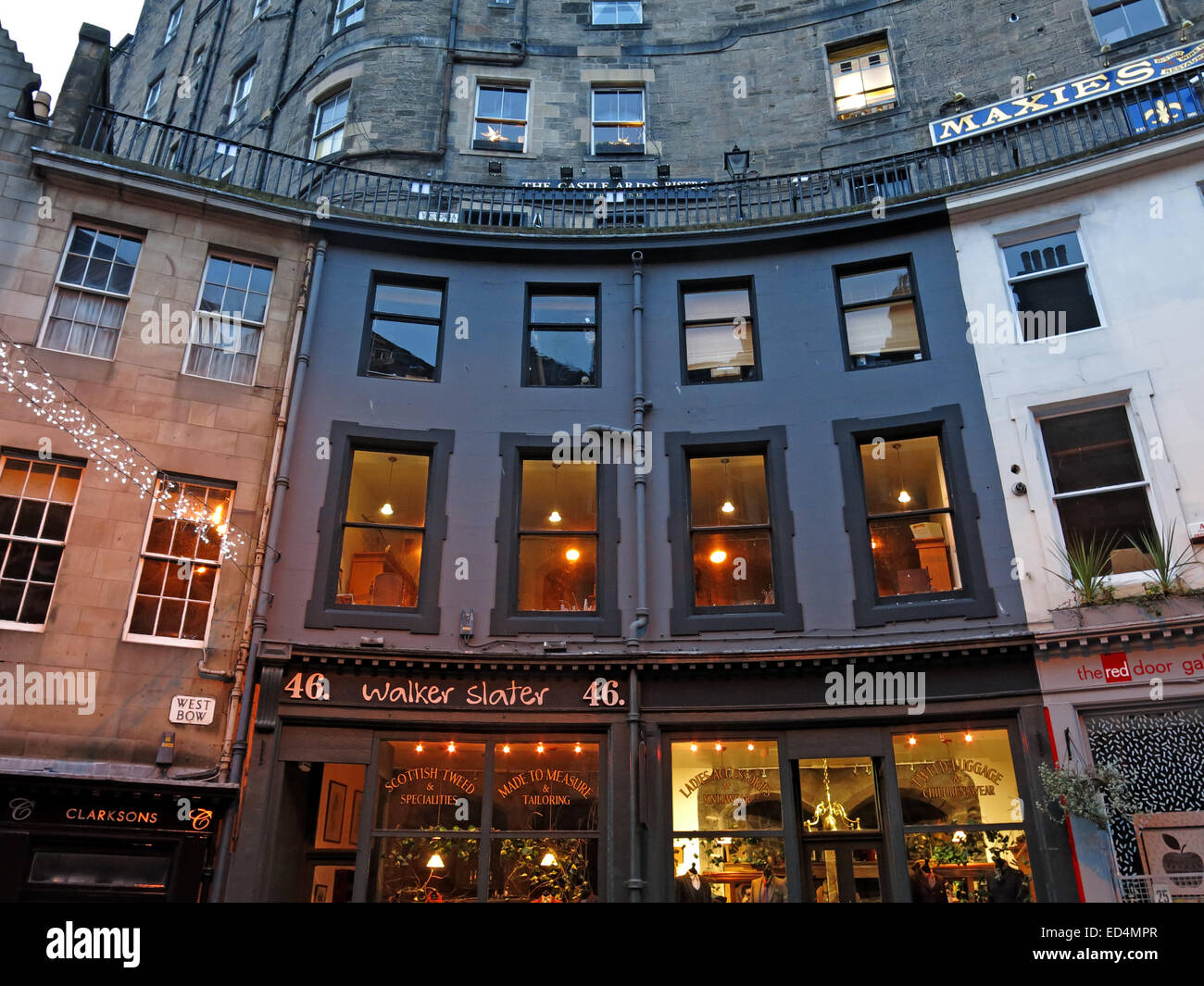 Edinburgh's Historic Victoria St, City Centre, Lothian, Scotland, UK - Stock Image