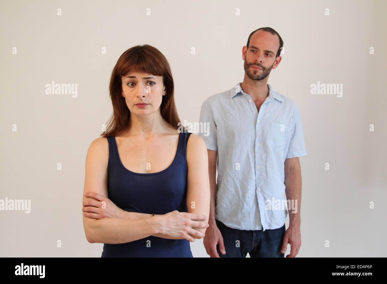 Couple with relationship problems / in domestic abuse situation - Stock Image