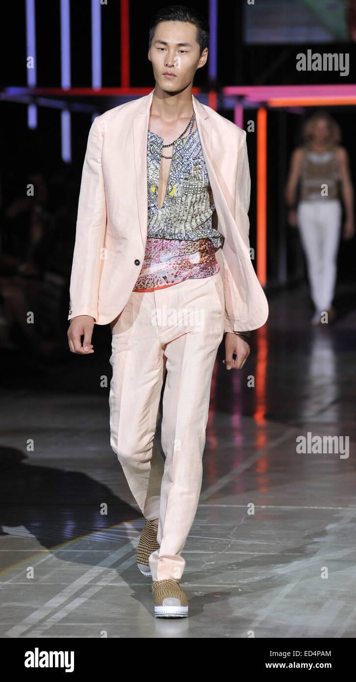 a59b2db488c9d Milan Fashion Week Men's Ready-to-Wear Spring/Summer 2015 - Cavalli -  Catwalk Featuring: Model Where: Milan, Italy When: 24 Jun 2014