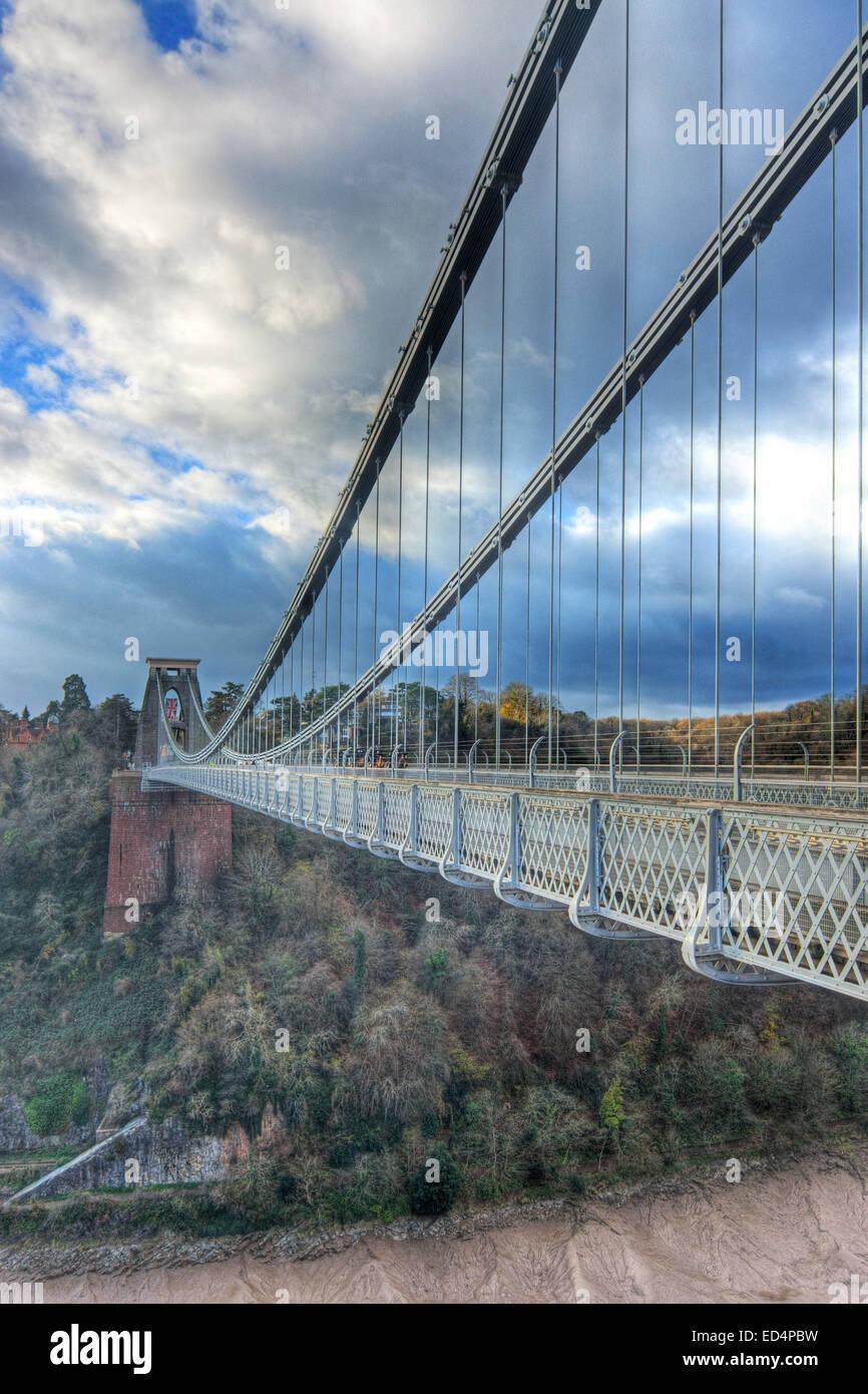 clifton Suspension bridge Bristol - Stock Image