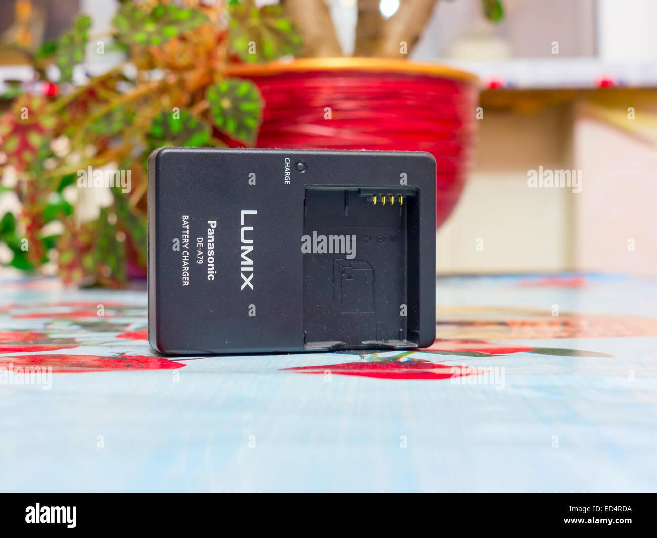 GOMEL, BELARUS - NOVEMBER 24, 2014: Battery Charger Panasonic Lumix DE-A79. - Stock Image
