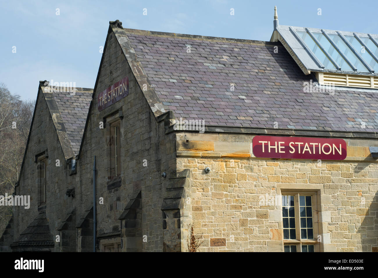 The Station at Richmond in North Yorkshire - Stock Image