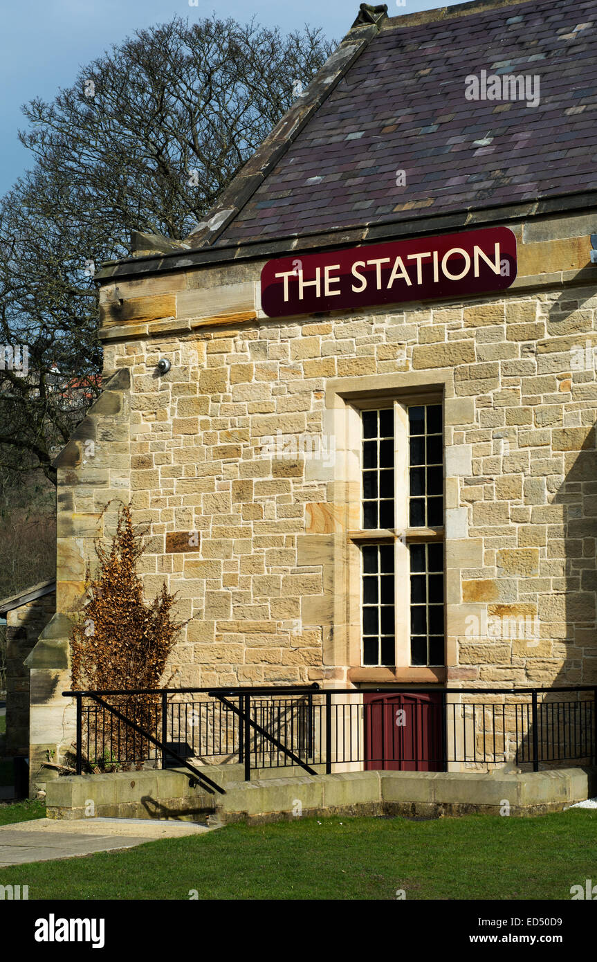 Richmond Station in Yorkshire - Stock Image
