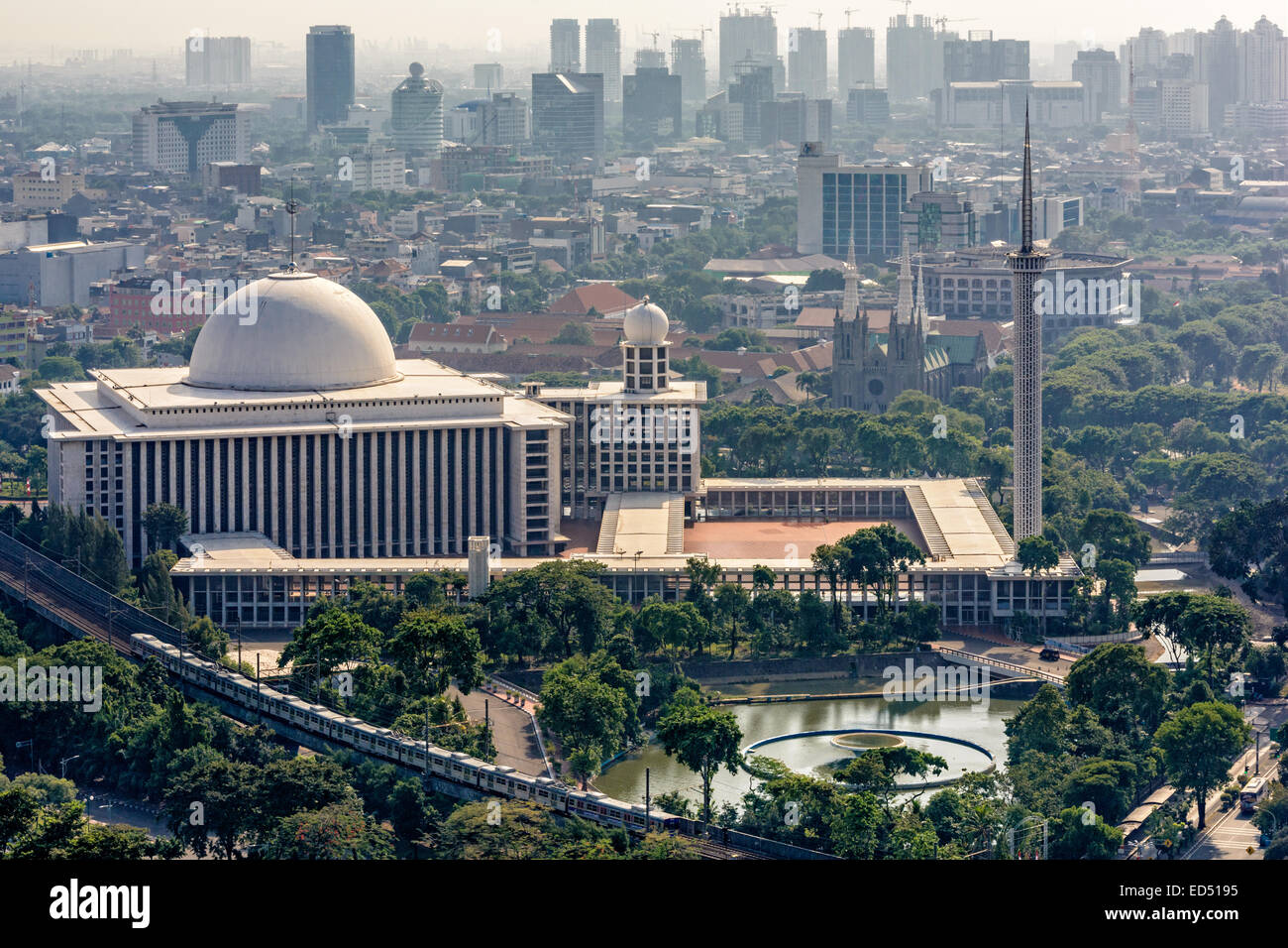 Istiqlal Mosque Or Masjid Istiqlal Independence Mosque In Stock