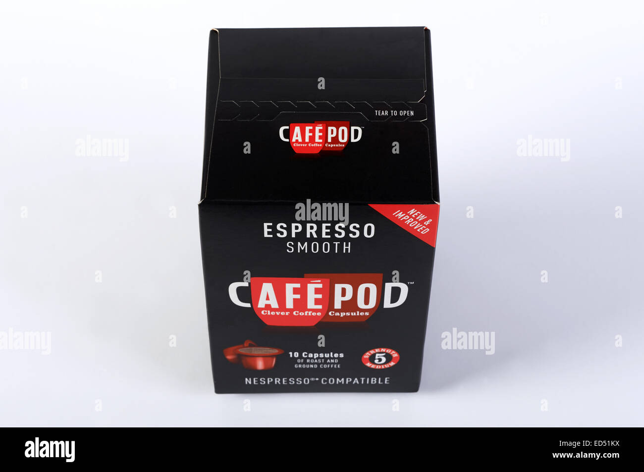 Espresso Smooth Cafe Pod Nespresso compatible coffee pods - Stock Image