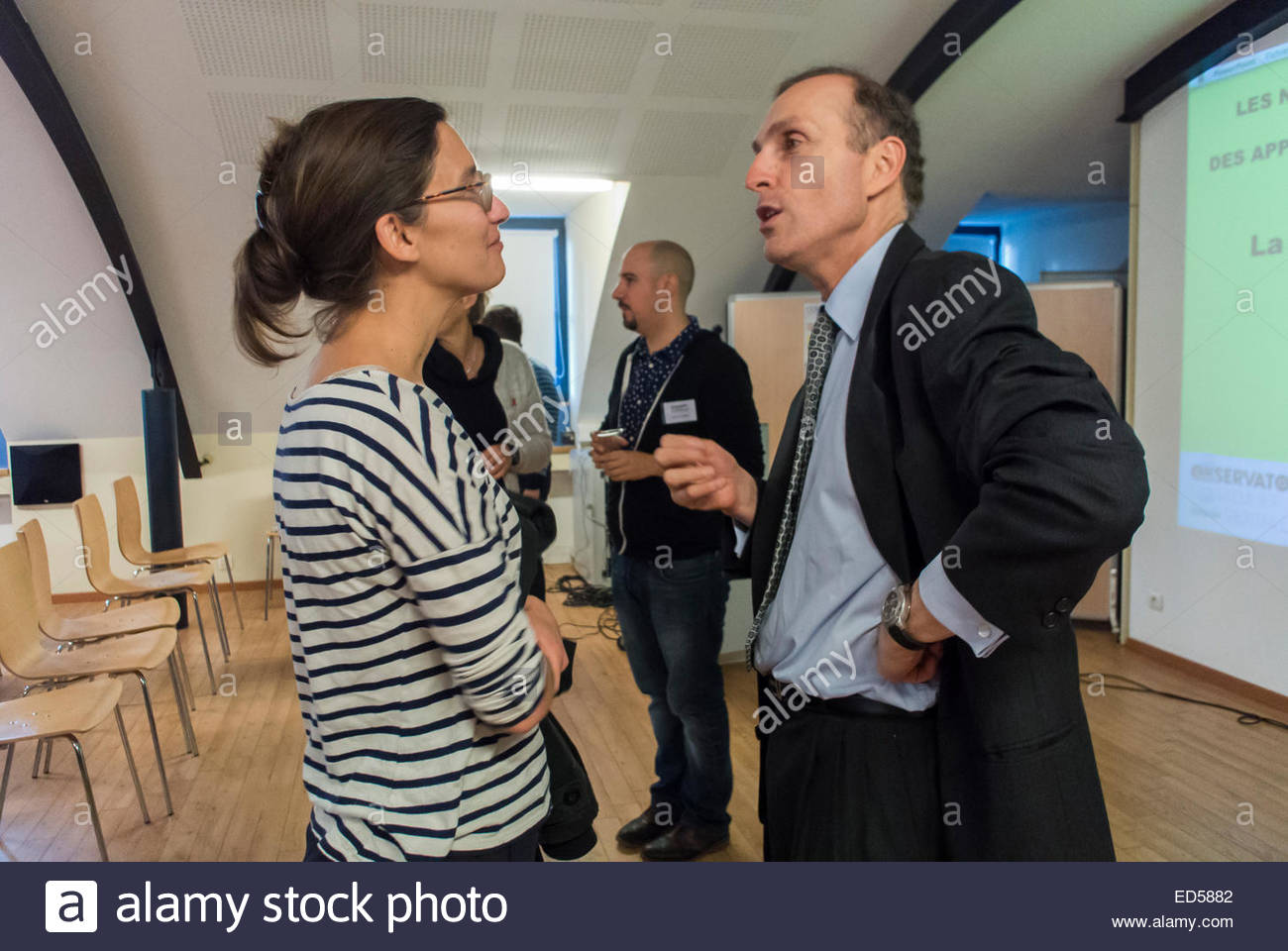 Brussels, Belgium, HIV AIDS Prevention Conference on PrEP, Pre-exposure prophylaxis, L'Observatoire du Sida - Stock Image