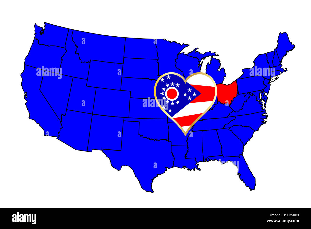Ohio Outline Stock Photos & Ohio Outline Stock Images - Page ...