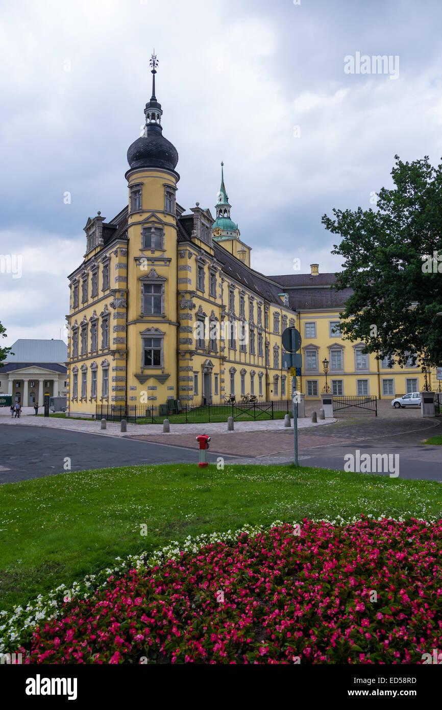 castle in oldenburg in summer time - Stock Image