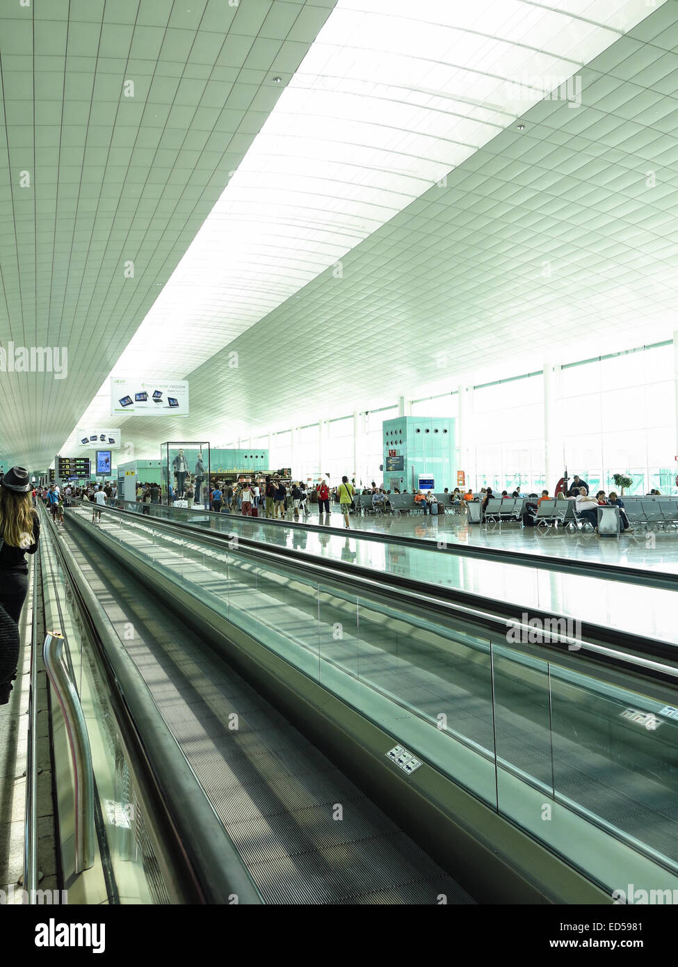 991070cf312 Barcelona International Airport interior. Airport if one of the biggest in  Europe and the sec