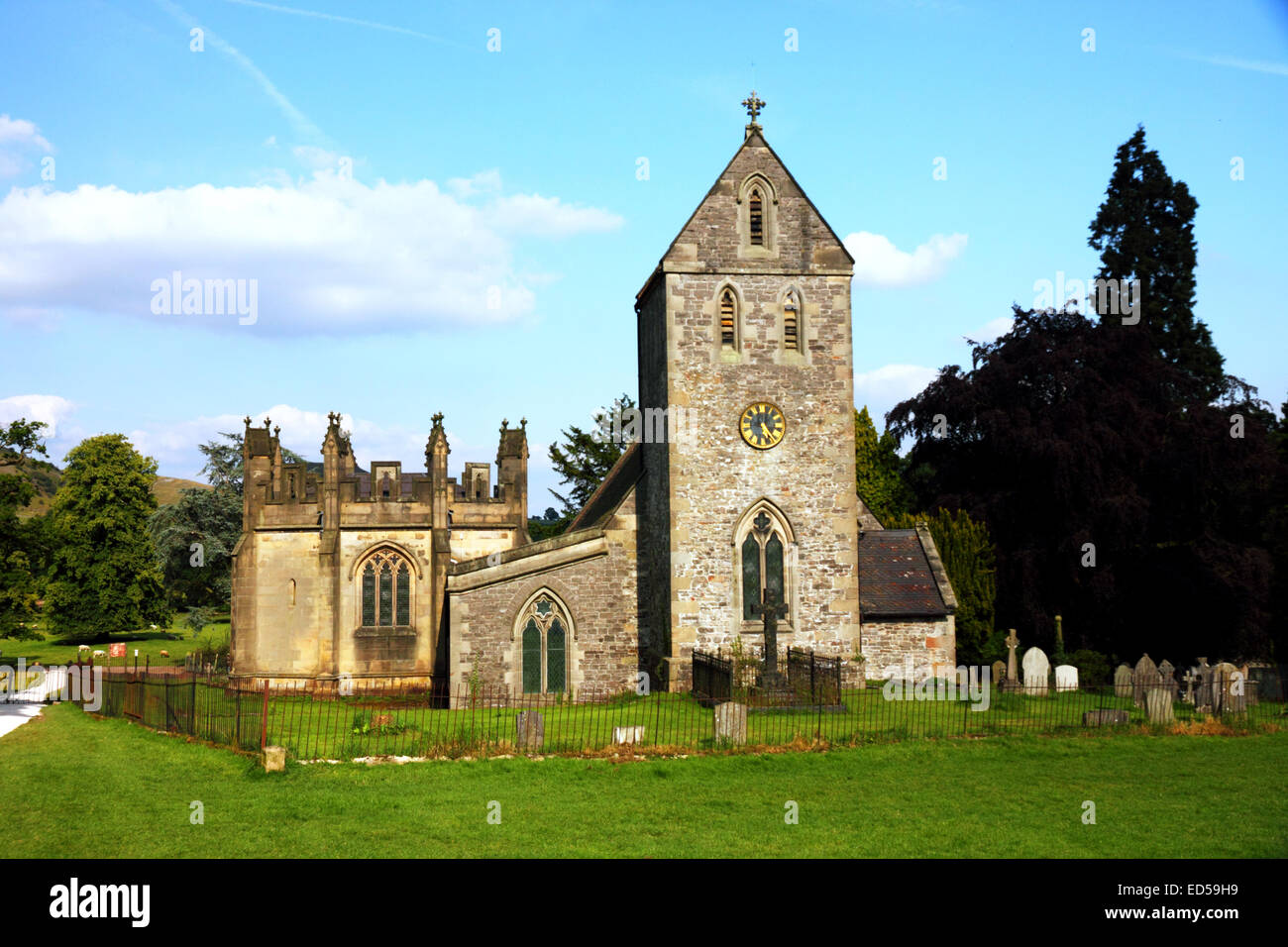Church of the Holy Cross, Ilam, Staffordshire. - Stock Image
