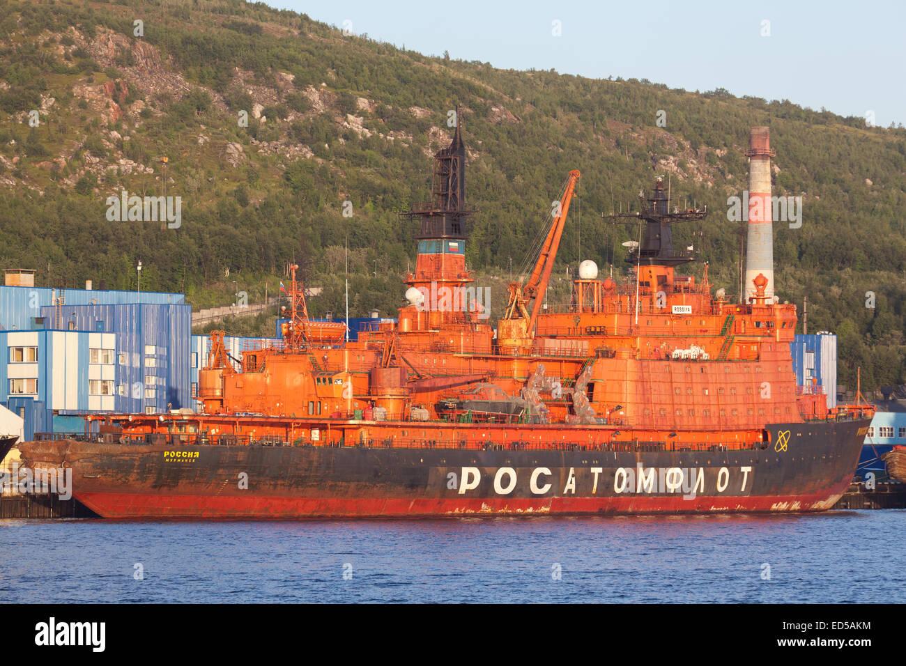 Nuclear-powered icebreaker 'Rossiya' - Stock Image