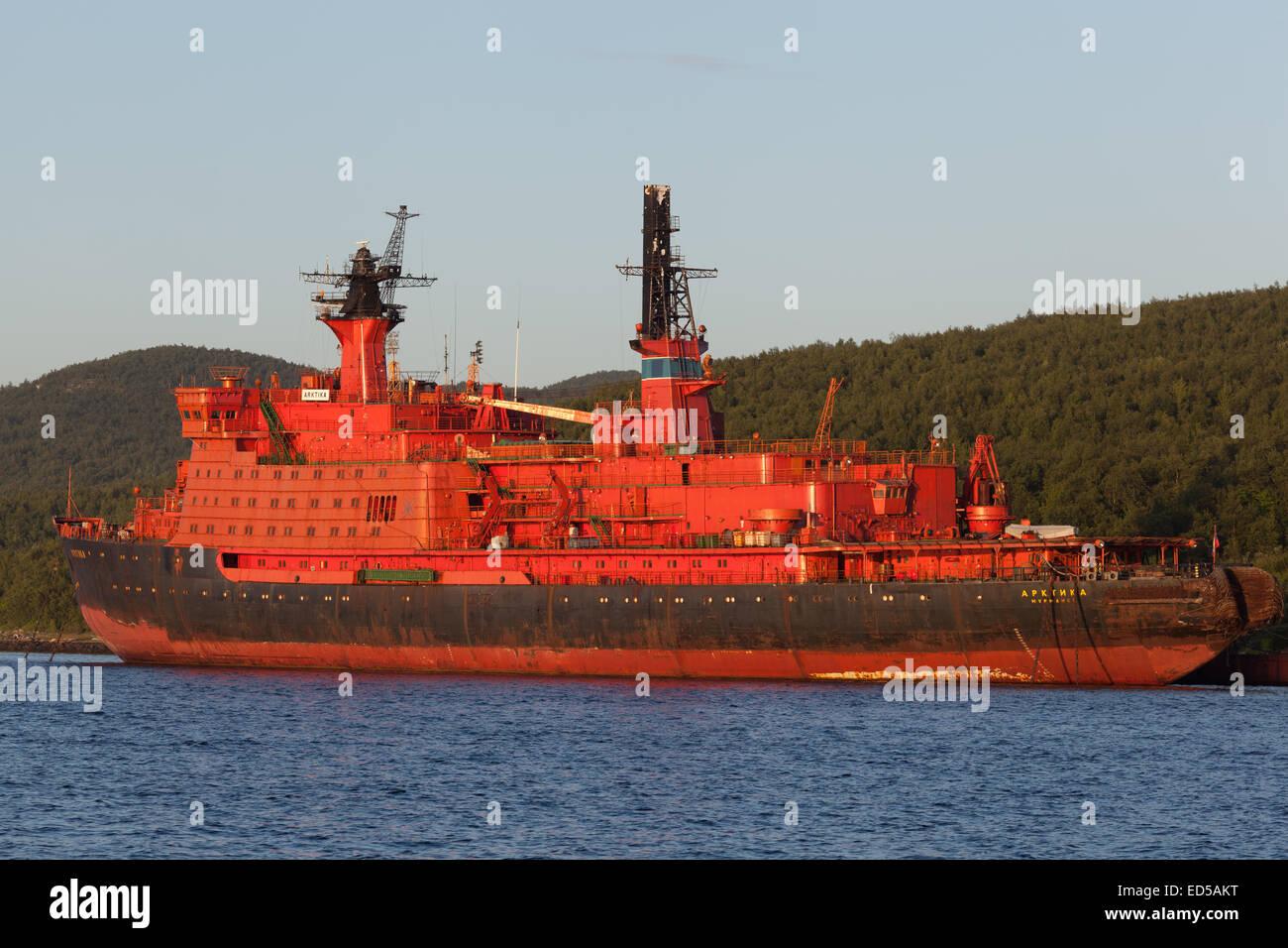 Nuclear-powered icebreaker 'Arktika' - Stock Image