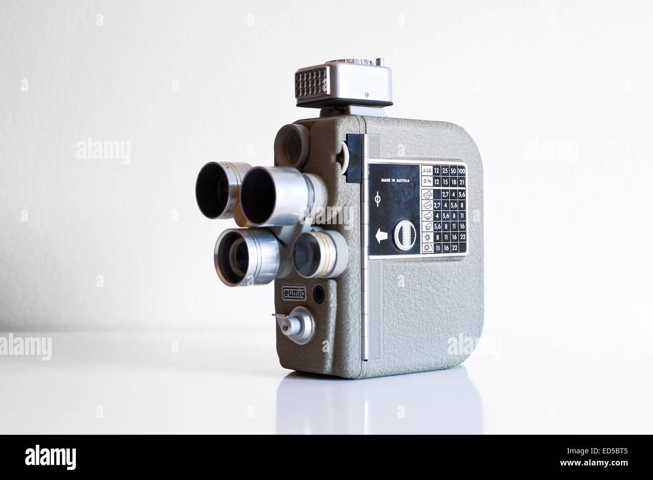8Mm Vintage Camera old vintage eumig electric model r rotating lens turret 8mm
