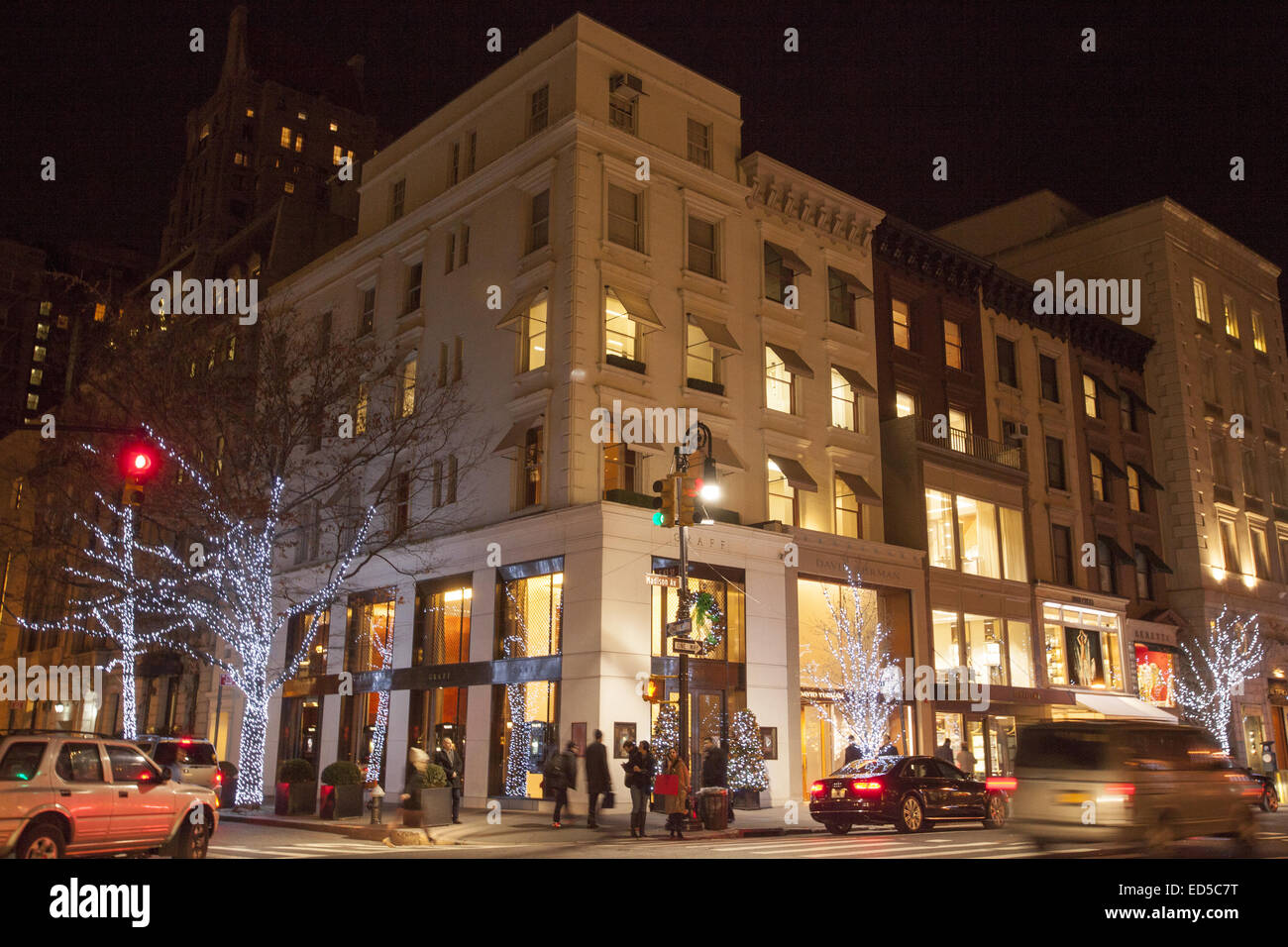 Madison Ave at 63rd St. at Christmas time, NYC Stock Photo: 76951388 ...