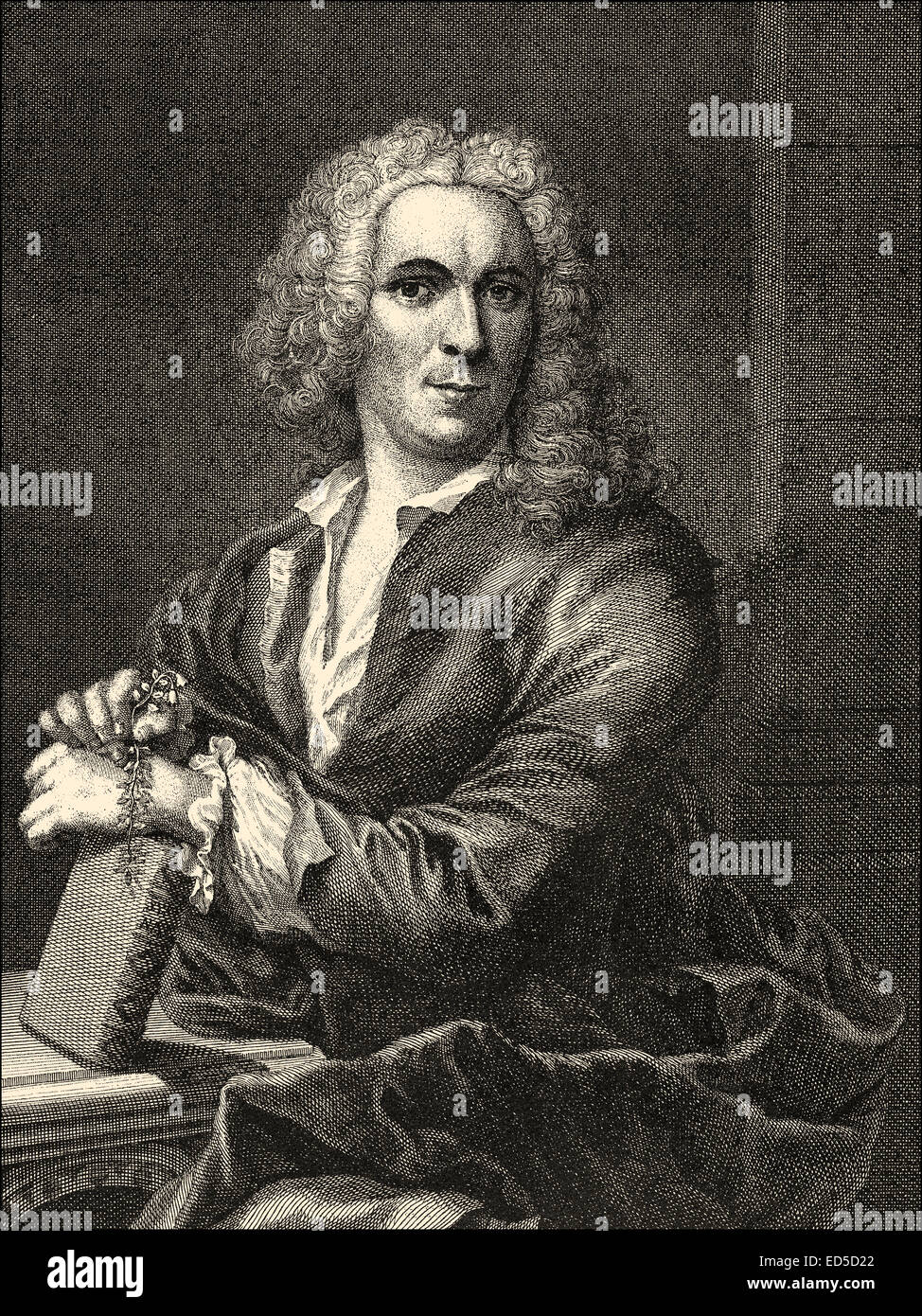 Carl Linnaeus,  or Carl von Linné, 1707-1778, a Swedish botanist, physician, and zoologist, Carl von Linné, oder Carl Nilsson Li Stock Photo