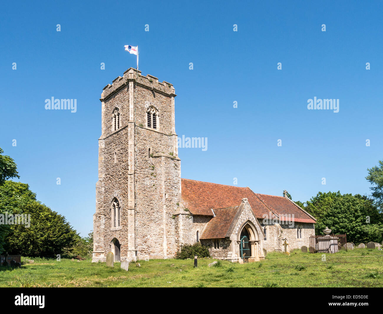 The Church of St Margaret of Antioch in the picturesque village of Shottisham, Suffolk. - Stock Image