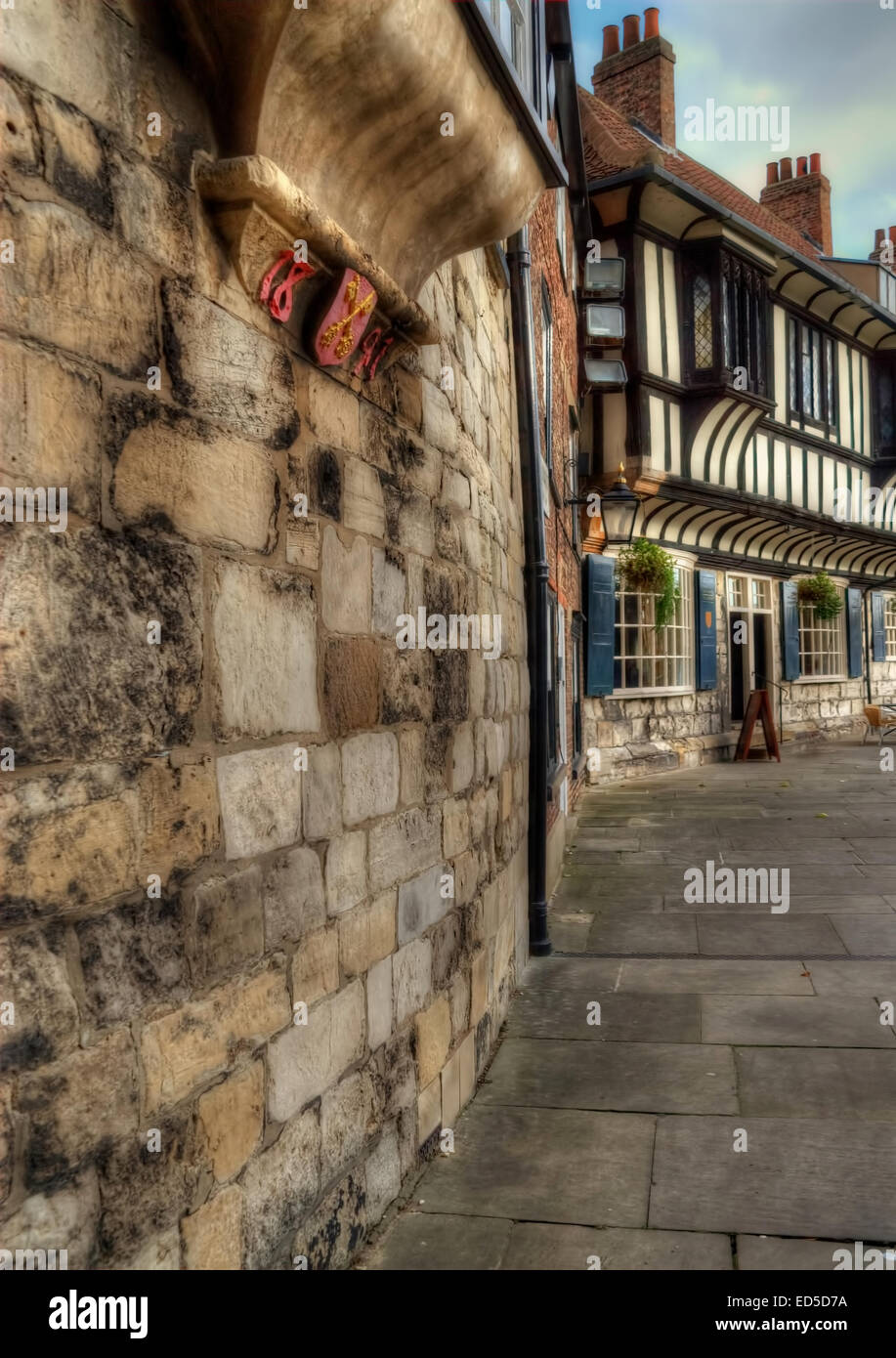 One of the many wonderful scenes from York, North Yorkshire. Stock Photo