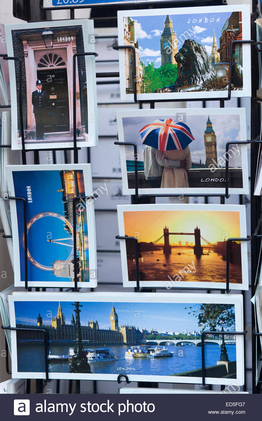 Postcards of London England Stock Photo