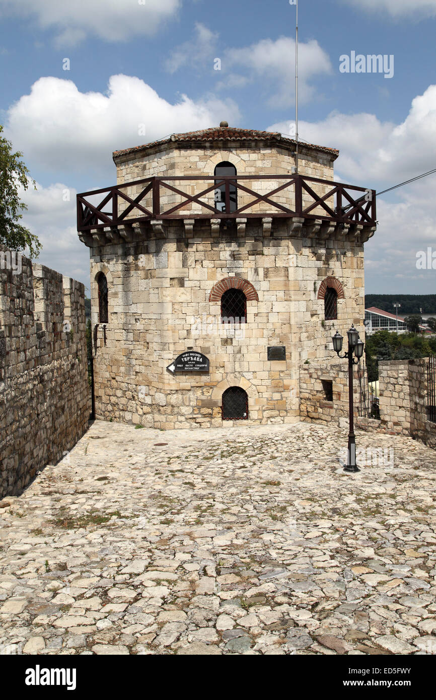 The walls of Kalemegdan Fortress in Belgrade, Serbia. The fortress dates to Roman times. - Stock Image