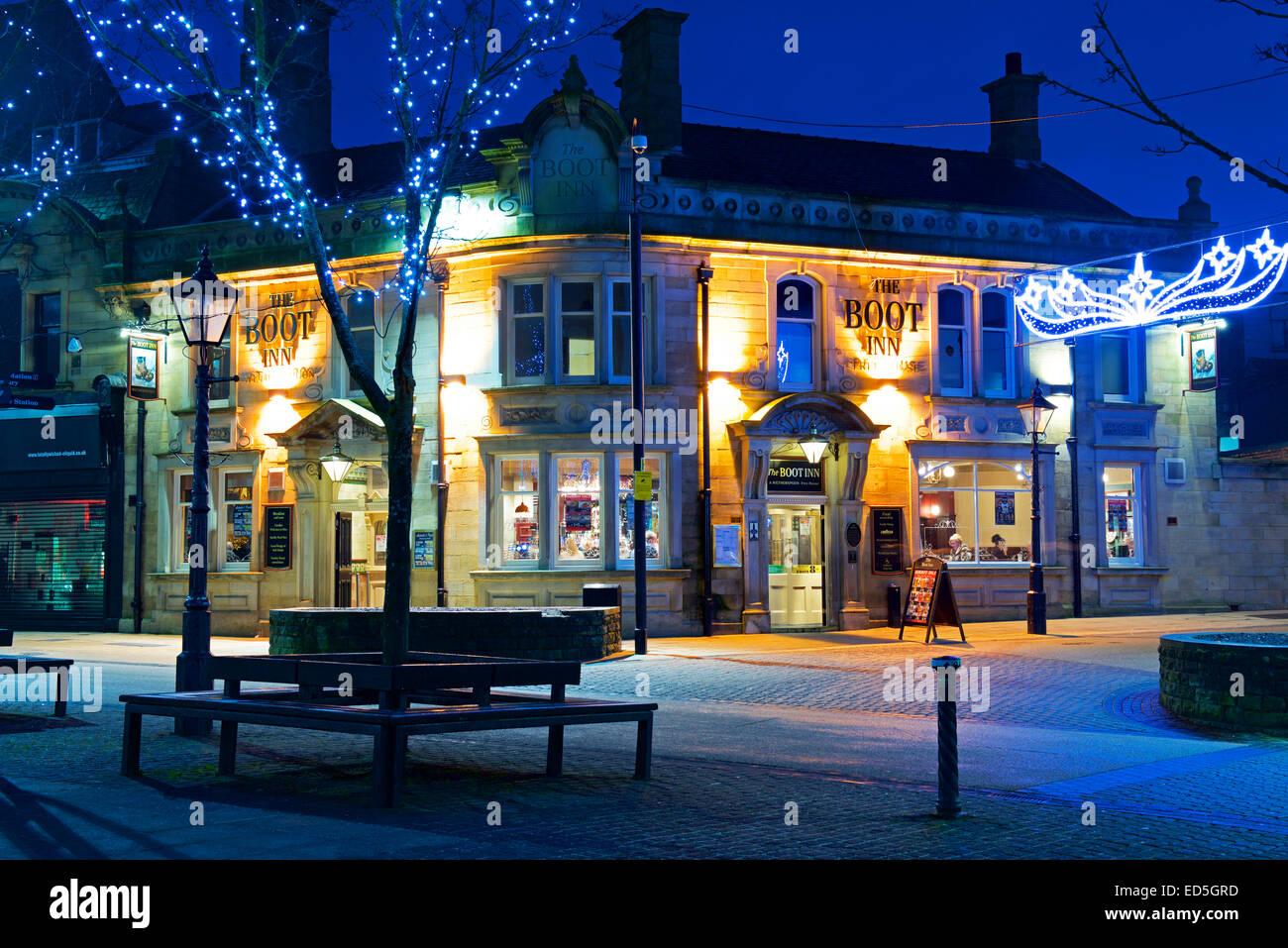 The Boot, a Wetherspoons pub, Burnley, Lancashire, England UK - Stock Image