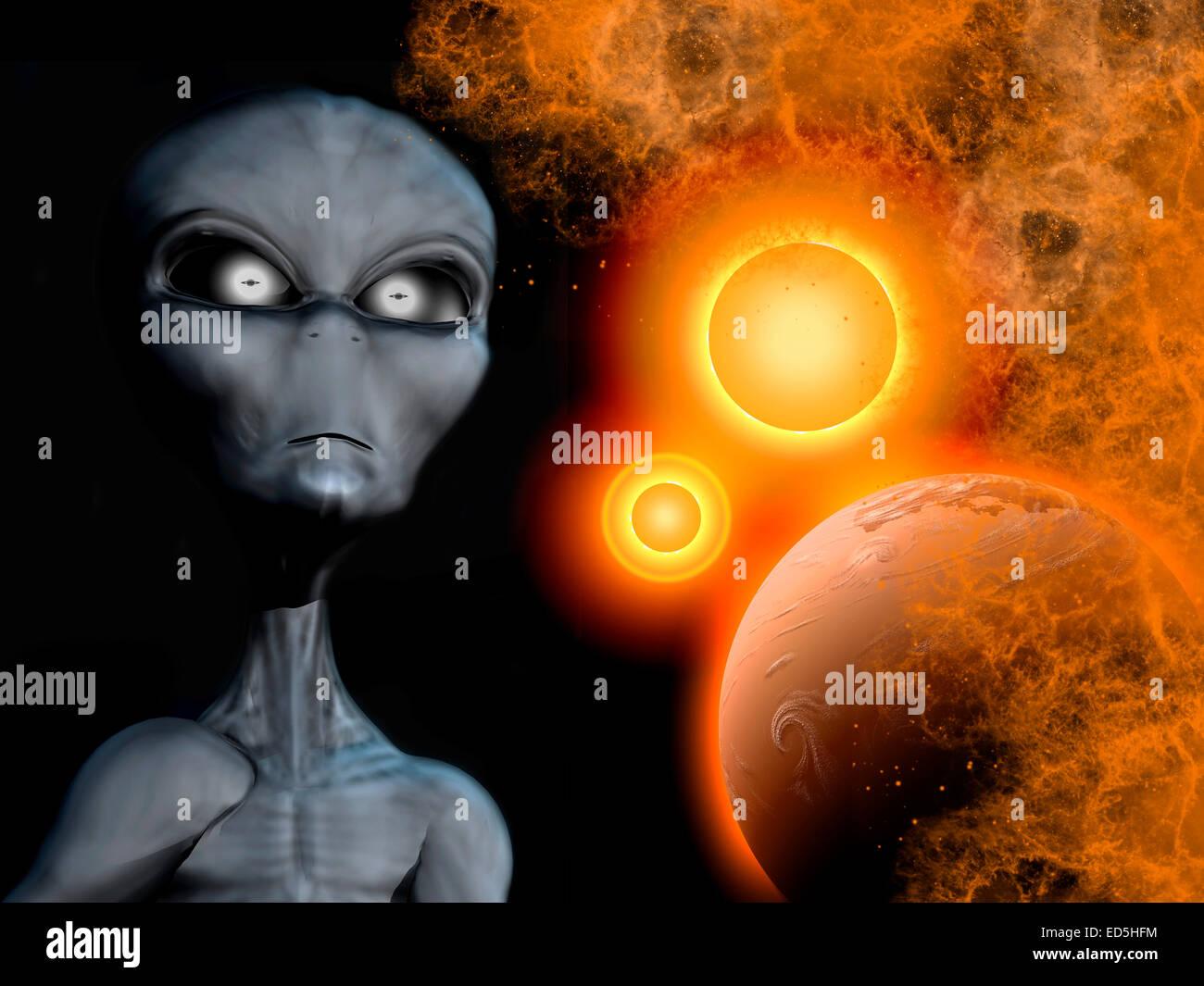 Alien Abduction Stock Photos & Alien Abduction Stock Images