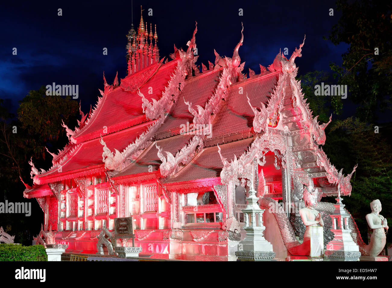 Wat Sri Suphan (Silver Temple), Chiang Mai, Thailand - Stock Image