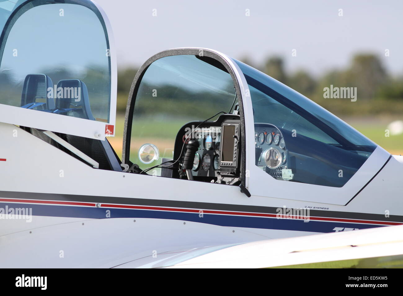 Airplane Cockpit - Stock Image
