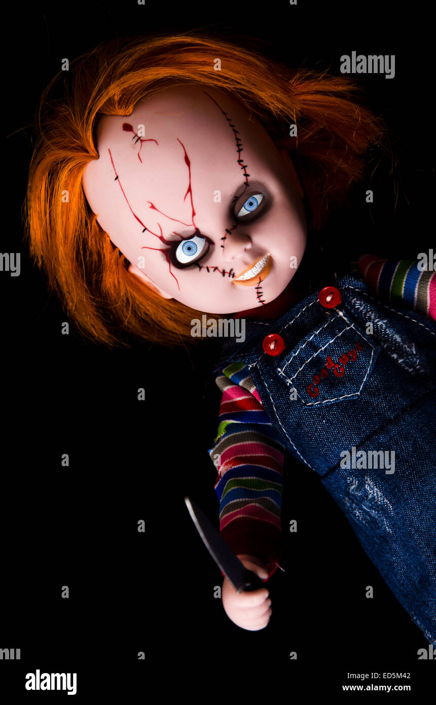 horror cult movie scary doll stock photo 76957554 alamy
