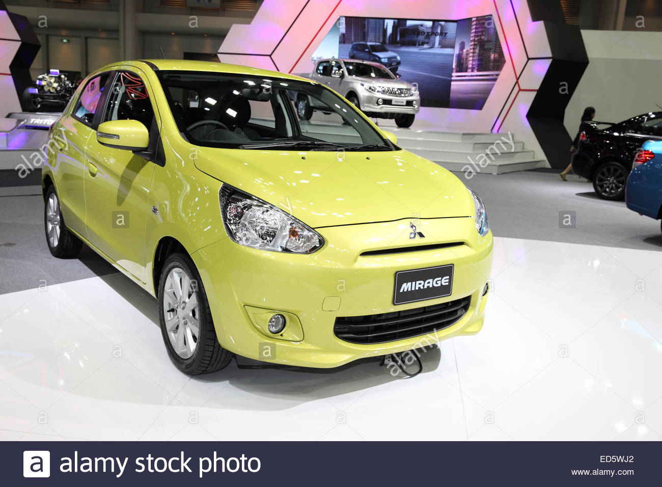 9878ae905 BANGKOK - November 28: Mitsubishi Mirage car on display at The Motor Expo  2014 on