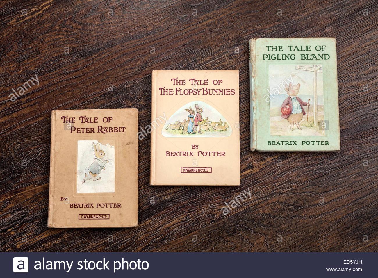 Beatrix Potter Books - Stock Image
