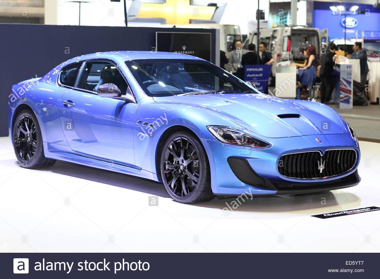 BANGKOK - November 28: Image zoom of Maserati car on display at The Motor Expo 2014 on November 28, 2014 in Bangkok, - Stock Image